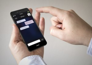 chat touchscreen smartphone